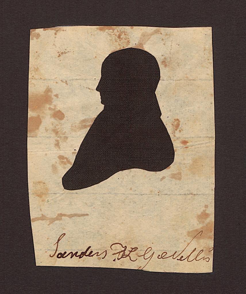 Saunders Ken Grems Nellis. Silhouette. 1820-1850. Paper (laid), ink, silk. Winterthur Museum, Garden & Library. https://www.winterthur.org/
