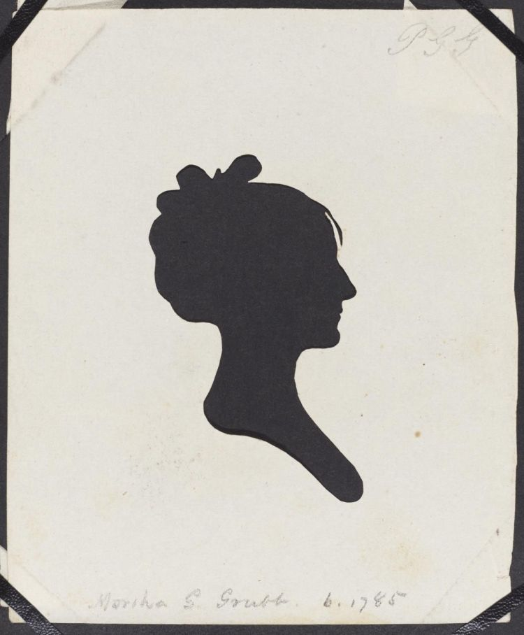 Moses Williams. Martha G. Grubb. Circa 1805. Hollow-cut silhouette on paper. Philadelphia Museum of Art: Gift of the McNeil Americana Collection, 2009. https://www.philamuseum.org/