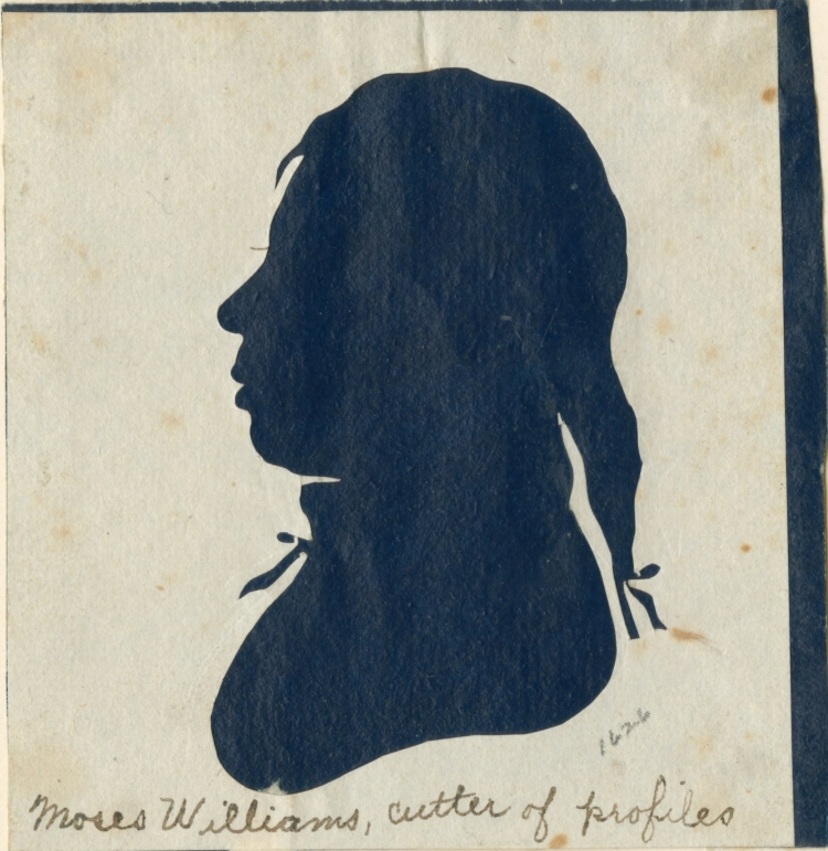 Silhouette portrait of Moses Williams.